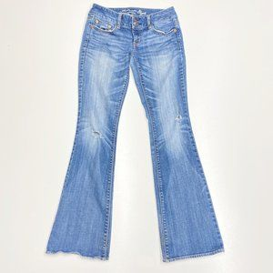 American Eagle Artist Flare Jeans Distressed 2